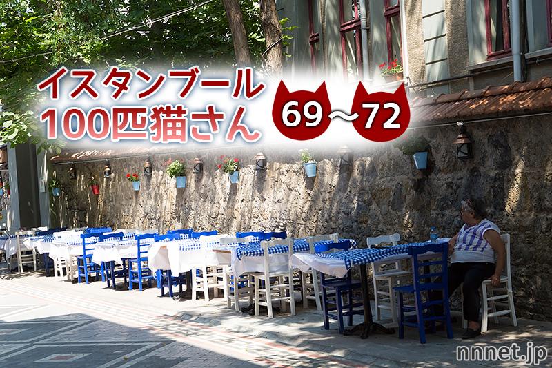 カフェで団欒!【連載】イスタンブールの100匹猫さん 69~72匹目
